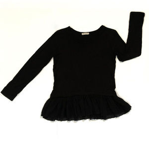 PEBBLE AND STONE tutu ruffle long sleeve top